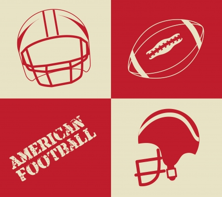 american football design over  colors background vector illustration  Vector