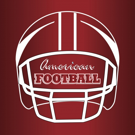 american football design over  red  background vector illustration  Illustration