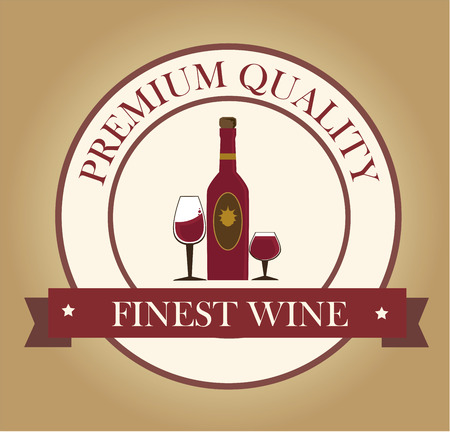 finest: wine design over  beige background vector illustration