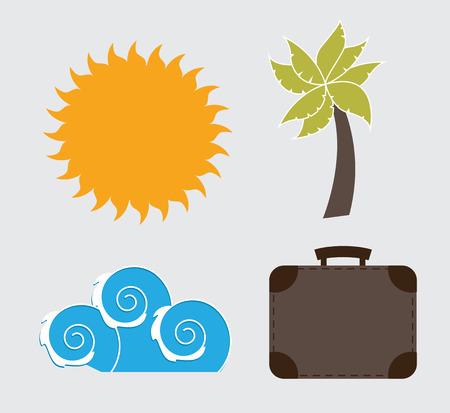 travel design over blue background vector illustration Vector