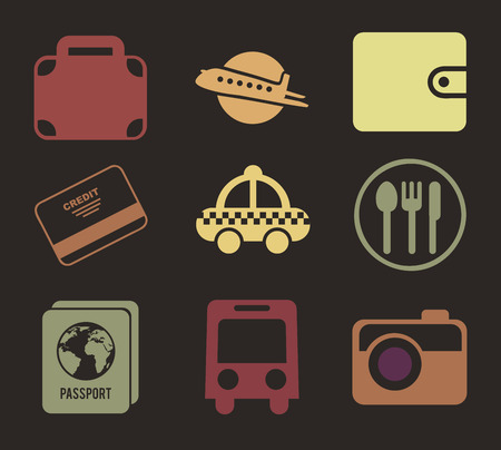 travel design over black background vector illustration Vector