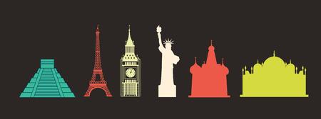 travel design over black background vector illustration  イラスト・ベクター素材