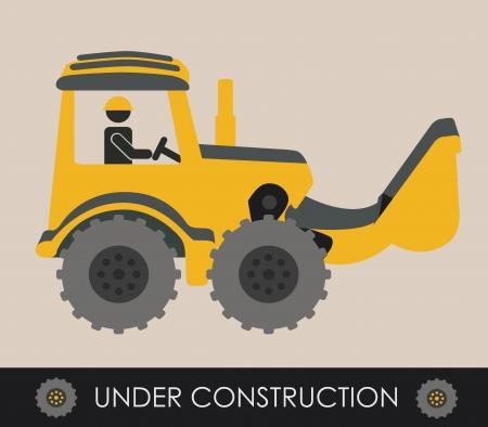 construction design over pink  background vector illustration  Vector