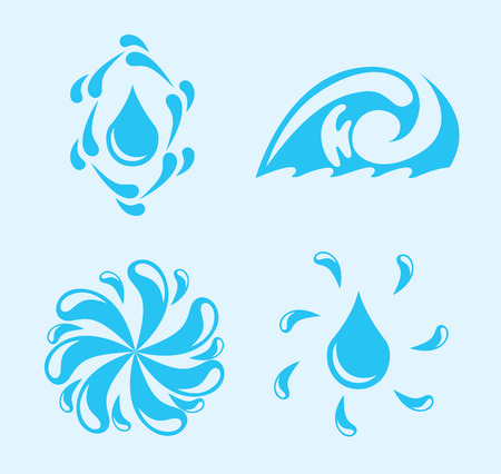 water design over blue  background vector illustration Vector