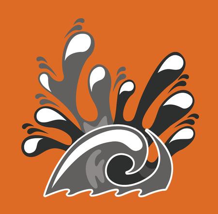 resourse: water design over  orange background vector illustration