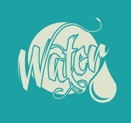 water design over blue  background vector illustration