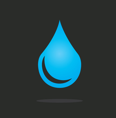water design over  black background vector illustration Vector