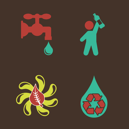 resourse: water design over  brown background vector illustration