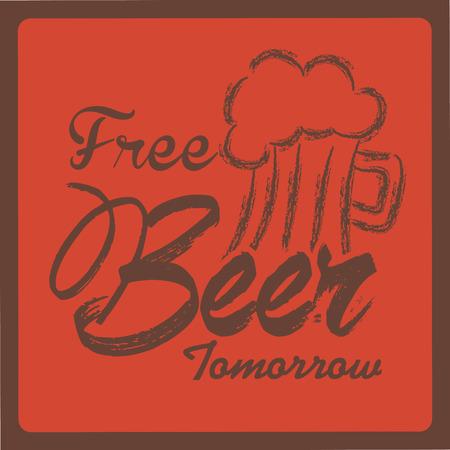 glases: beer design over  red background vector illustration