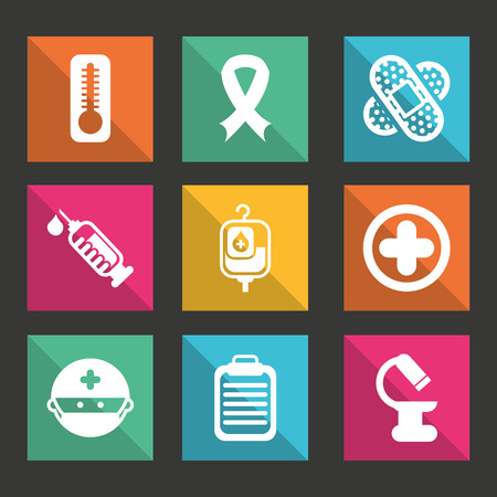 medical dsign over black background vector illustration   Vector