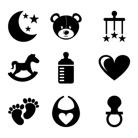 bear silhouette: toys design over white  background vector illustration