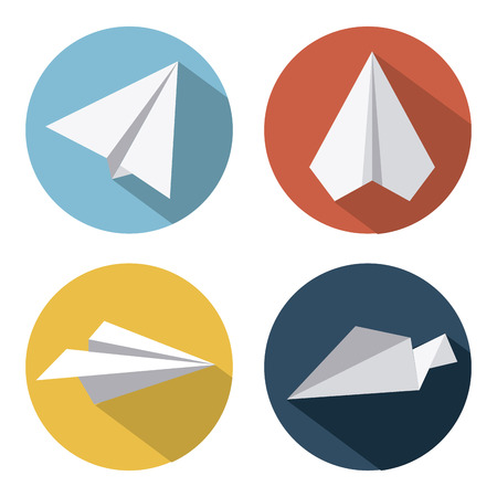 paper airplane: toys design over  white background vector illustration
