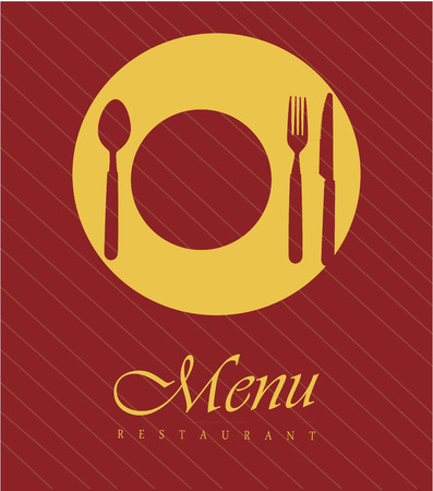 foodstuff: menu design over  red background vector illustration