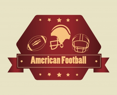 american football design over beige  background vector illustration   Vector