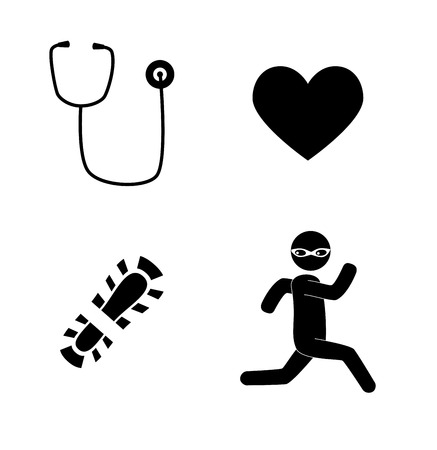 virus design  over white background vector illustration Vector