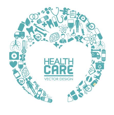community service: medical design over  white background vector illustration   Illustration