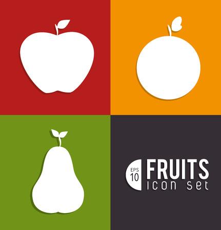 fruits design  over colors  background vector illustration Vector