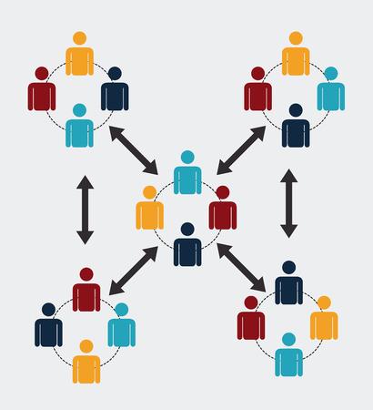 red social más de fondo ilustración vectorial Ilustración de vector