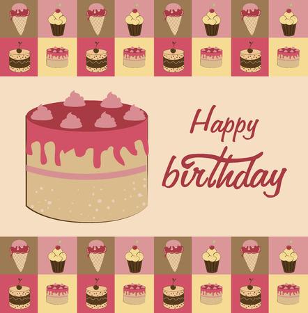 backgrund: birthday  design over  pink  backgrund vector illustration