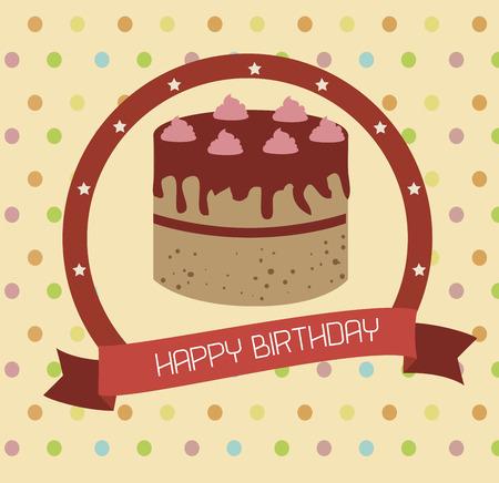 backgrund: birthday  design over  dotted  backgrund vector illustration