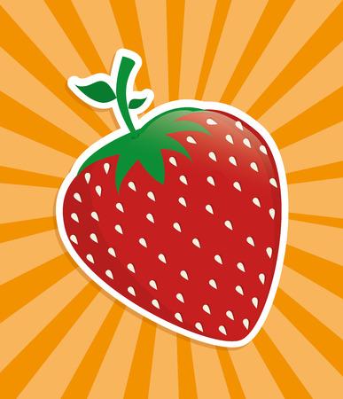fruits design  over  orange background vector illustration Vector