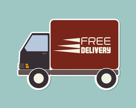 article marketing: delivery design over blue  background vector illustration