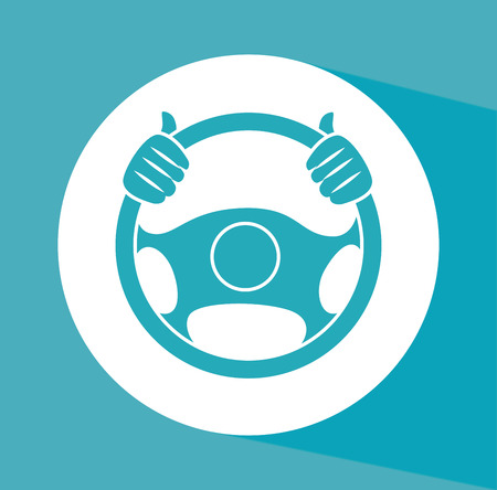 vector wheel: steering wheel over background vector illustration Illustration