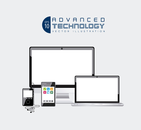 technology design over white background vector illustration Vector