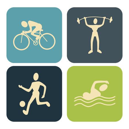swiming: sports design over  white background vector illustration   Illustration
