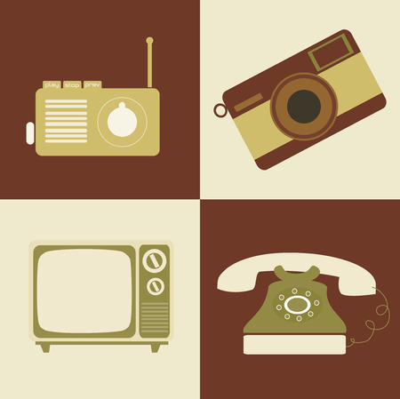 classics: retro lifestyle over colors background vector illustration