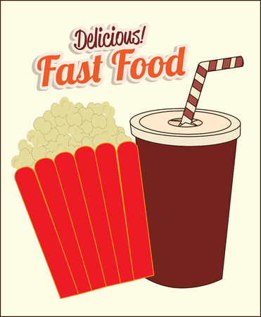 fast food over white   background vector illustration  Vector