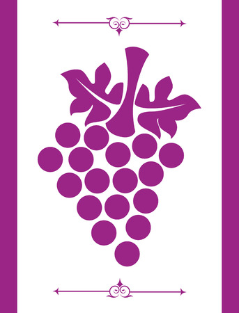 wine design over purple background vector illustration  Vector