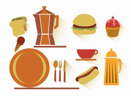 sandwish: fast food over  white  background vector illustration  Illustration
