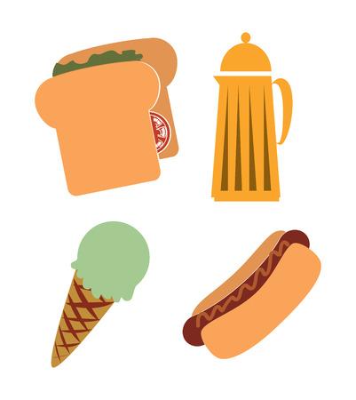 sandwish: fast food over  white  background vector illustration