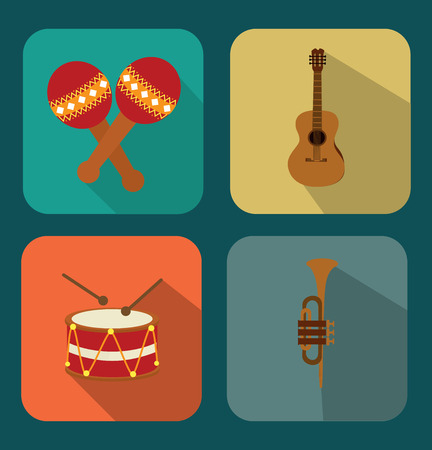 interpreter: musical design over blue background vector illustration Illustration