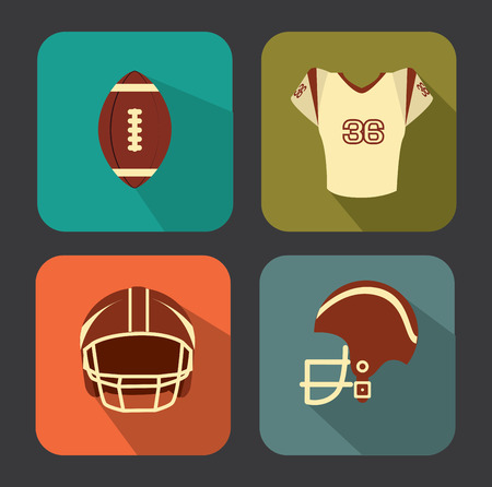 american football design over gray   background vector illustration  Vector