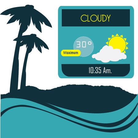 meteorologist: weather design over white  background vector illustration  Illustration