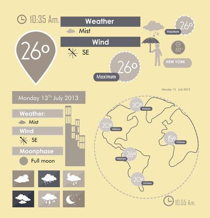 meteorologist: weather design over pink background vector illustration