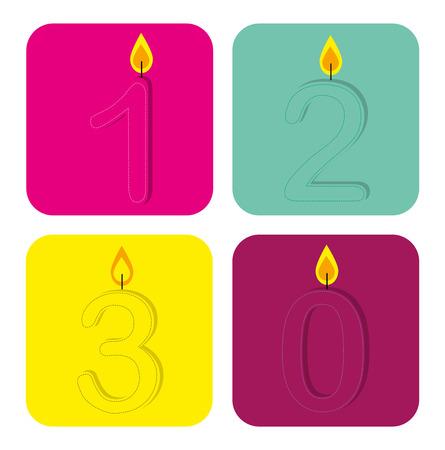 backgrund: birthday  design over white  backgrund vector illustration  Illustration