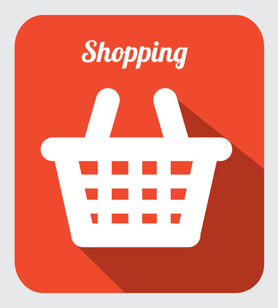 shopping design over  orange vector illustration Vector