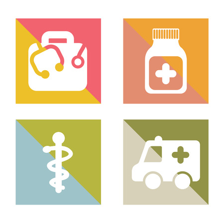 emergency cart: medical dsign over white background vector illustration