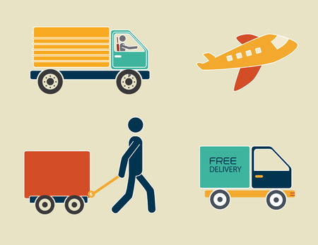 delivery design over beige background vector illustration Illustration