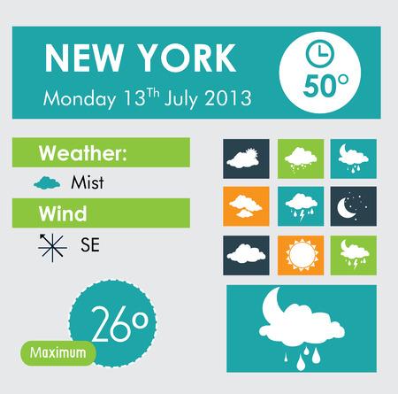 meteorologist: weather design over white background vector illustration