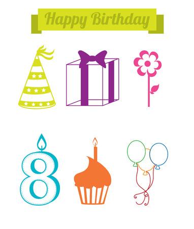 backgrund: birthday  design over   white backgrund vector illustration