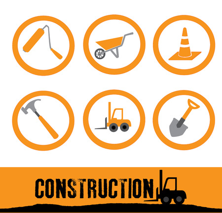 construction design over white background vector illustration  Stock Vector - 25727278