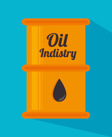 petroleum blue: industry design over blue  background vector illustration