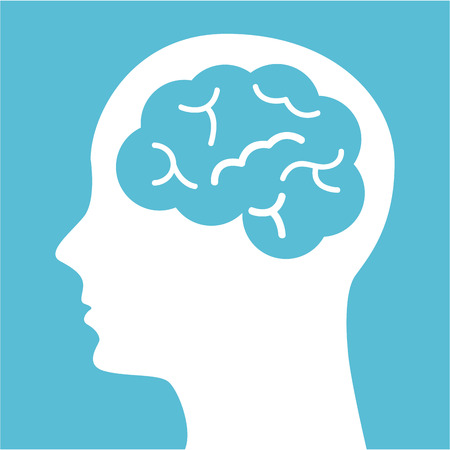 denk ontwerp over blauwe vectorillustratie als achtergrond