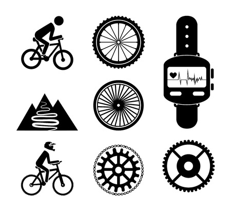 cycling  design over  white background vector illustration   Vector