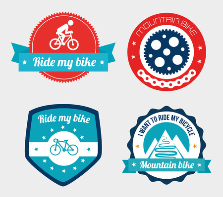 activity icon: cycling  design over white  background vector illustration   Illustration