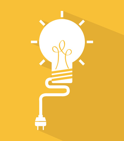 mental object: think design over yellow background vector illustration